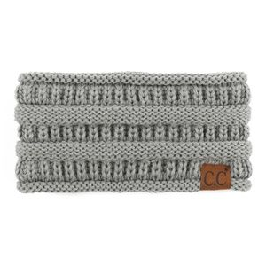 Solid cable knit C.C headwrap in GRAY